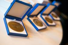 The European Citizen's Prize 2015 medals