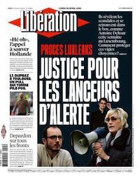 Une de Libération, le 26 avril